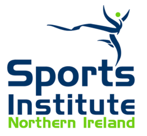 Sports Institute for Northern Ireland - The institutes's logo, incorporating the name inferiorly and a depiction of sporting activity superiorly.