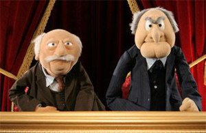 Statler and Waldorf: From the Balcony - Waldorf (left) and Statler (right) in the balcony.