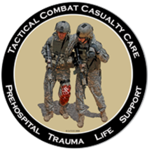 Tactical combat casualty care - TCCC logo.