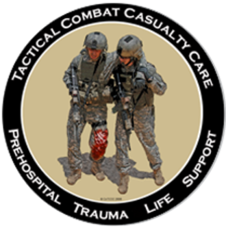 Tactical combat casualty care - TCCC logo.