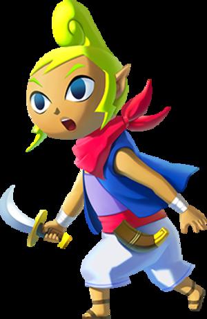 Princess Zelda - Tetra, as depicted in The Legend of Zelda: Wind Waker