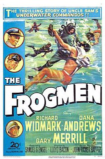<i>The Frogmen</i> 1950 American black and white WWII drama film by Lloyd Bacon