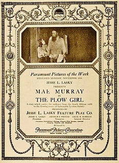 <i>The Plow Girl</i> 1916 film by Robert Zigler Leonard