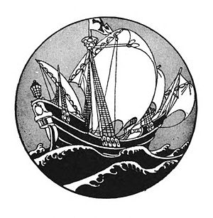 The Voyagers: Being Legends and Romances of Atlantic Discovery - Vignette from the 1925 edition