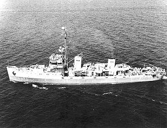 USS Tide (AM-125) - USS Tide, 1943