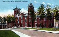 Old College Building, Valparaiso University, circa 1918 (Photograph courtesy of the S. Shook Collection)
