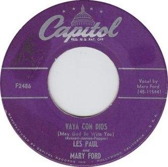 Vaya con Dios (song) - Image: Vaya Con Dios 45 Capitol Les Paul Mary Ford