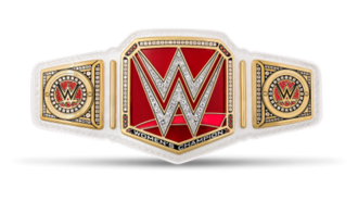 WWE Raw Women's Championship - The Raw Women's Championship belt with default side plates
