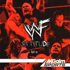 WWF Attitude - Cover art of WWF Attitude featuring (clockwise from top left) Triple H, Stone Cold Steve Austin, The Undertaker, The Rock, and Mankind