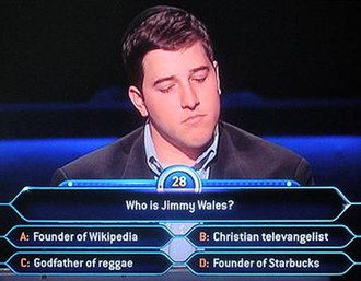 Who Wants to Be a Millionaire (U.S. game show) - Screenshot illustrating how question text and answer choices appear on-screen