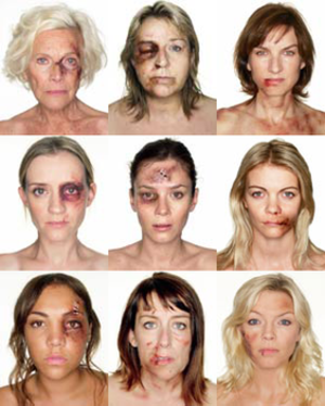 What's it going to take? - The nine photographs produced for the campaign. Top row (L-R): Honor Blackman, Fern Britton, Fiona Bruce Middle row (L-R): Anne-Marie Duff, Anna Friel, Jemma Kidd Bottom row (L-R): Miquita Oliver, Fay Ripley, Kate Thornton