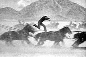 Yakima Canutt - Yakima doubling John Wayne in Stagecoach
