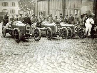 Grand Prix Sunbeams 1922 - The 1922 Grand Prix Sunbeam Team in Strasbourg (Mathieson-Taylor Archive)