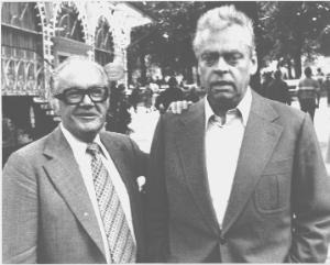Dirch Passer - Dirch Passer (right) with composer Aage Stentoft
