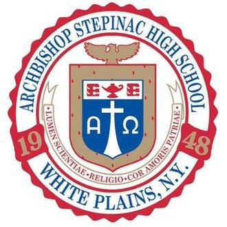 Archbishop Stepinac High School - Image: Archbishop Stepinac High School seal