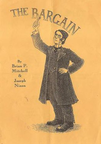 Brian Mitchell and Joseph Nixon - A flyer/programme, designed by Philip Reeve, for The Bargain at the Nightingale Theatre, Brighton, 1994