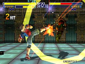 Bloody Roar (video game) - Screenshot of the arcade version