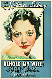 <i>Behold My Wife!</i> (1934 film) 1934 film by Mitchell Leisen