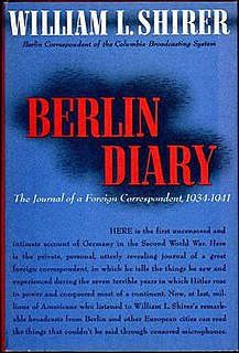 <i>Berlin Diary</i> Book by William L. Shirer