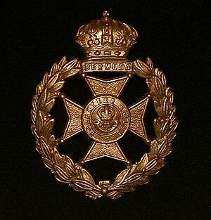 Bermuda Volunteer Rifle Corps - Bermuda Volunteer Rifle Corps cap badge
