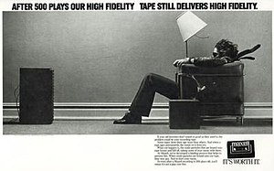 "Hitachi Maxell - Maxell ""Blown Away Guy"" advertisement for cassette tapes."