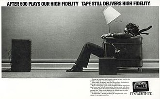 "Maxell - Maxell ""Blown Away Guy"" advertisement for cassette tapes."
