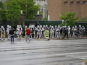Star Wars Celebration - Members of the 501st Stormtrooper Legion march at C3
