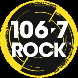 CJRX-FM - Image: CJRX 106.7ROCK logo