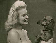 Chrystabel Leighton-Porter and dachshund.jpg