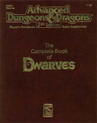 The Complete Book of Dwarves - The cover of the original printing of The Complete Book of Dwarves.