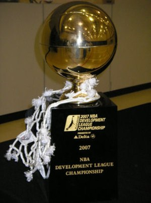 Dakota Wizards - 2007 D-League Championship trophy awarded to the Dakota Wizards