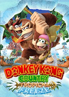 <i>Donkey Kong Country: Tropical Freeze</i> 2014 side-scroller platform video game for the Wii U and Nintendo Switch