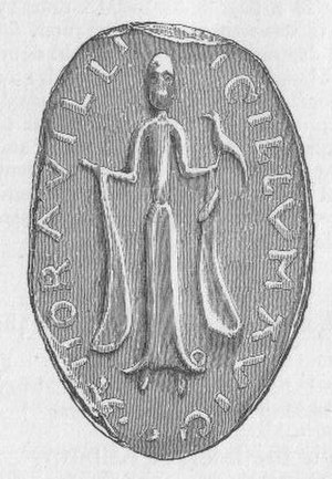 Dunlop, East Ayrshire - The Seal of Richard De Morville, Lord of Cunninghame and his Lady Avicia