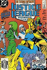 Justice League of America #31 (October 1989) featuring Linda Strauss as Doctor Fate. Cover Art by Adam Hughes.