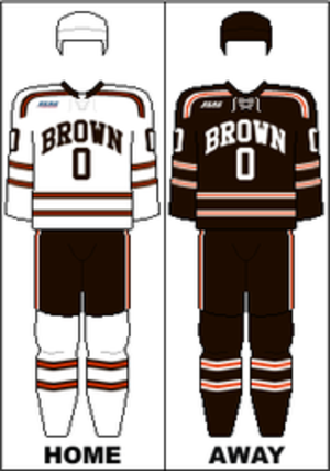 Brown Bears men's ice hockey - Image: ECAC Uniform Brown