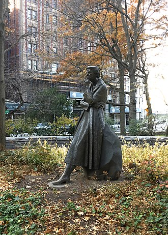 Eleanor Roosevelt Monument - Image: Eleanor Roosevelt Monument 2017 12 02 Statue view from North