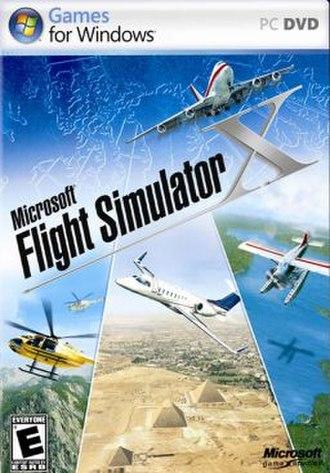 Microsoft Flight Simulator X - Image: FSX Cover