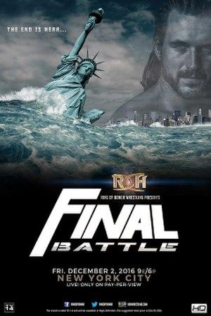 Final Battle (2016) - Promotional poster featuring Adam Cole