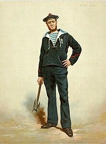a22a5a0685 French sailor in dark blue uniform