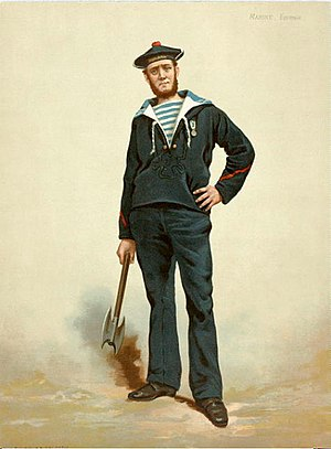 Navy blue - French sailor in dark blue uniform