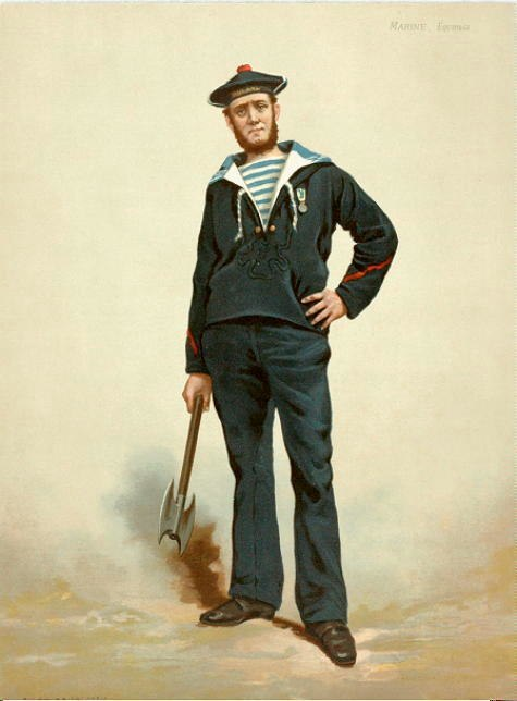 French sailor, 1880s