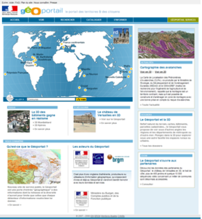 web mapping service of the French government