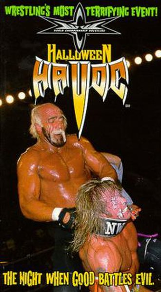 Halloween Havoc (1998) - VHS cover featuring Hollywood Hogan and The Warrior