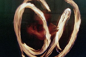 Twirling - Image: High res fire poi