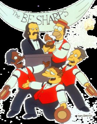 """Homer's Barbershop Quartet - Promotional artwork for """"Homer's Barbershop Quartet"""", featuring David Crosby"""