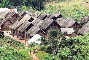 Zafimaniry - Zafimaniry village