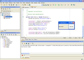 JBuilder - Image: J Builder screenshot