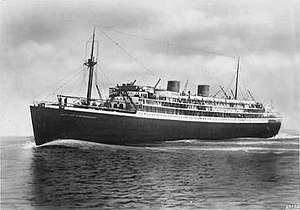 TSMS Lakonia - An early photo of the Johan van Oldenbarnevelt
