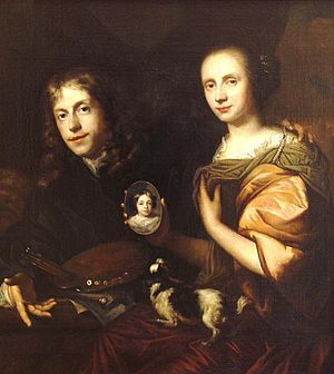Jan de Baen - Self portrait of Jan de Baen with his wife