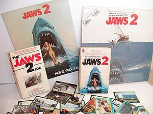 Jaws (franchise) - A small selection of merchandise from Jaws 2.